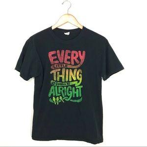Bob Marley Three Little Birds Graphic T-Shirt M A5
